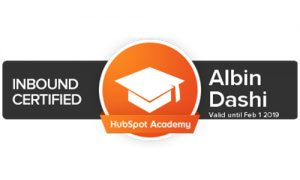 Inbound Marketing Certification Albin Dashi