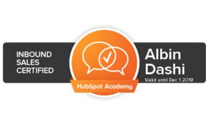 Inbound Sales Certification Albin Dashi