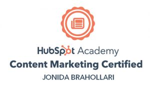 content marketing certification jonida brahollari